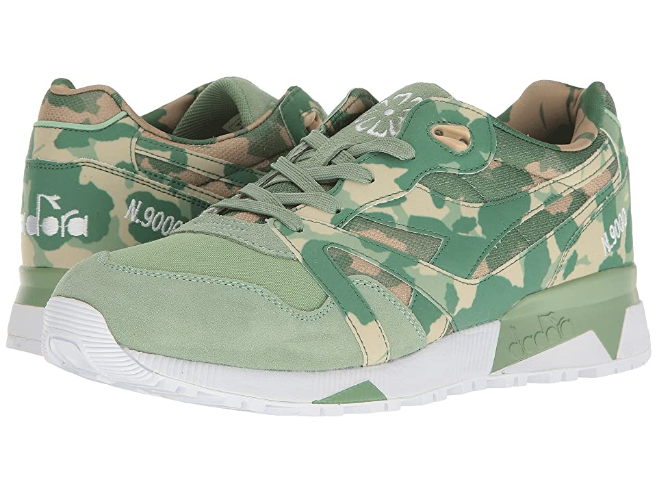Diadora N9000 Camo (Golf Club Green) Athletic Shoes