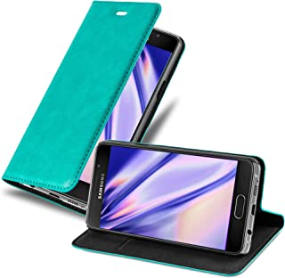 Cadorabo Book Case works with Samsung Galaxy A5 2016 in PETROL TURQUOISE - with Magnetic Closure, Stand Function and Card ...