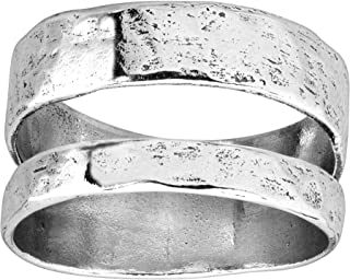 Silpada 'Double Spaced' Two Bar Ring in Sterling Silver