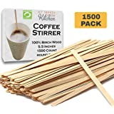 Wooden Coffee Stir Sticks (1500 Count) - Eco-Friendly