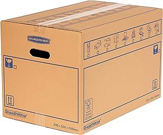 Bankers Box SmoothMove Caisses de Déménagement en Carton Double Epaisseur avec Poignées - 67 litres, 35 x 35 x 55 cm (Lot ...
