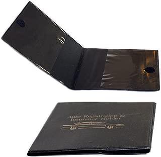 Set of 2 Vinyl Wallets for Car Auto Registration, Car Insurance, Important Documents