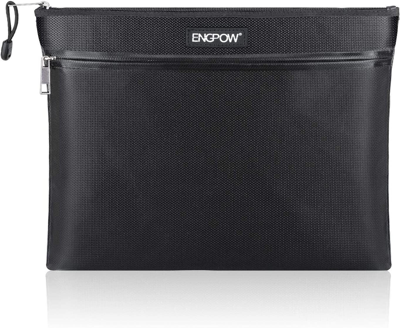 Fireproof Document Bag Two ENGPOW Zippers Max 77% OFF Cheap SALE Start Pockets