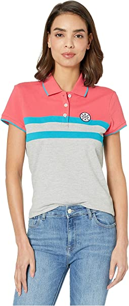 Patch Color Block Stripe Polo