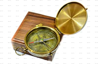 Sailor's Art Brass Compass | Camping & Travelling Equipment | Antique Home Decor Sailor's Gift for Men