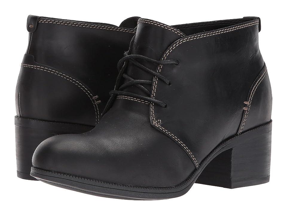 Clarks Maypearl Flora (Black Leather) Women