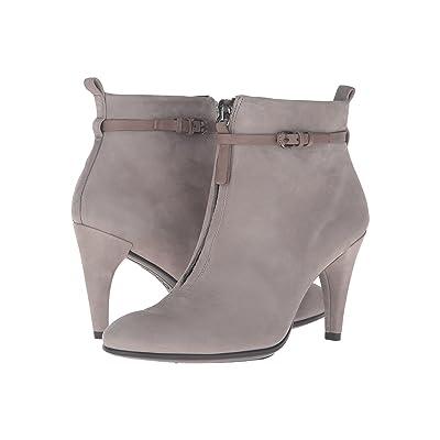 ECCO Shape 75 Sleek Ankle Boot (Warm Grey/Warm Grey Calf Nubuck/Cow Nubuck) Women