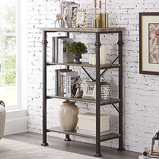 rustic grey bookshelves