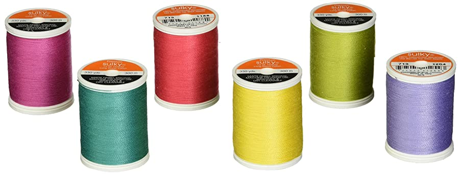 Sulky 713-34 Summer Collection ,Crossroads ,12 Weight (6 Pieces Per Pack), Multicolor