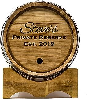 Custom Engraved 3 Liter Oak Barrels for Aging Whiskey, Rum, Tequila, Bourbon, Scotch and Wine (3 liter)