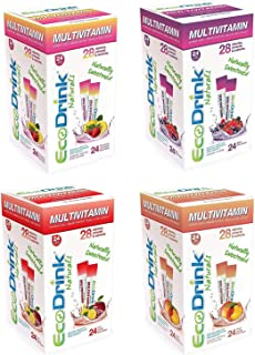 Eco-Drink Bulk Variety Pack| 4 Flavors | 96 Packets