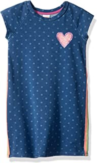 Gymboree Girls' Little Chambray Dress with Piped Side Rainbow