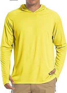 HOPATISEN Men's Hoodie Sun Protection Sweatshirts Lightweight Quick Dry Long Sleeve UPF 50+ Outdoor Sport Top