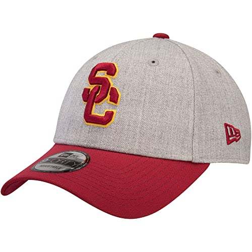 9f9da6e3962 USC Trojans New Era The League 9FORTY Adjustable Hat Heathered Gray Cardinal