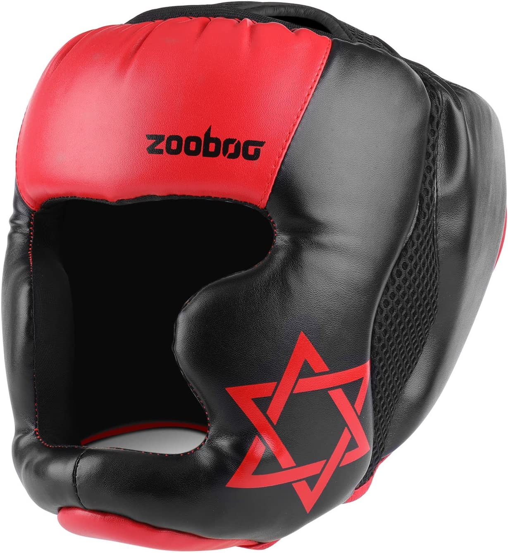 Flexzion MMA Headgear – UFC Muay Thai Kickboxing artes marciales Sparring Taekwondo Karate Lucha Deportes Boxeo Lucha Maya Ocultar Casco de Piel Suministros de Protección