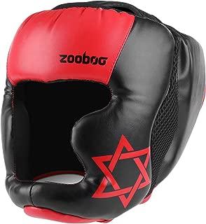 Flexzion MMA Headgear - UFC Muay Thai Kickboxing Martial Arts Sparring Taekwondo Karate Fighting Sports Boxing Wrestling Maya Hide Leather Helmet Protection Supplies Equipment