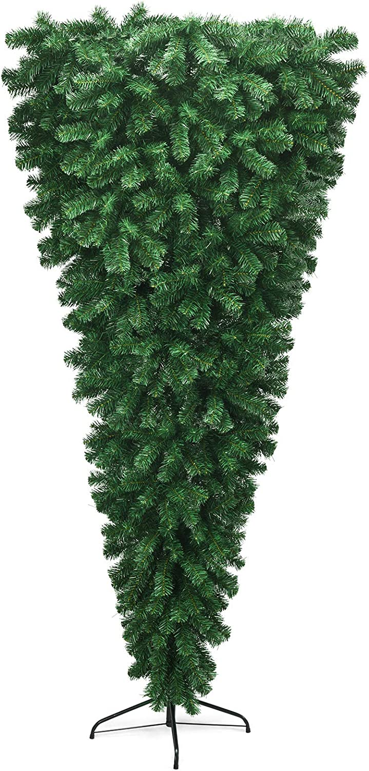 GOFLAME 7ft Upside supreme Down 100% quality warranty! Tree Tre Christmas Artificial