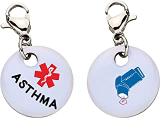 Asthma Snap-On Bracelet Charm-Parent Stainless Steel