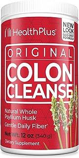 Health Plus Colon Cleanse - Natural Daily Fiber - Gluten Free, Detox, Heart Healthy (12 Ounces, 48 Servings)