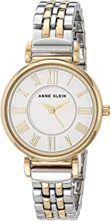 Anne Klein Womens Quartz Dress Watch, Analog and Metal- AK/2159SVTT