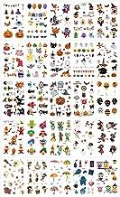 Lakkio 25 Sheets Halloween Tattoos Stickers for Children Funny Cartoon Tattoo Cute Pattern Temporary Stickers for Halloween Party