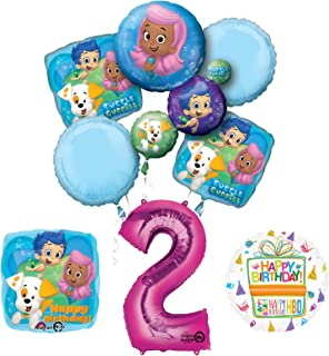 Bubble Guppies 2nd Birthday Party Supplies and Balloon Bouquet Decorations