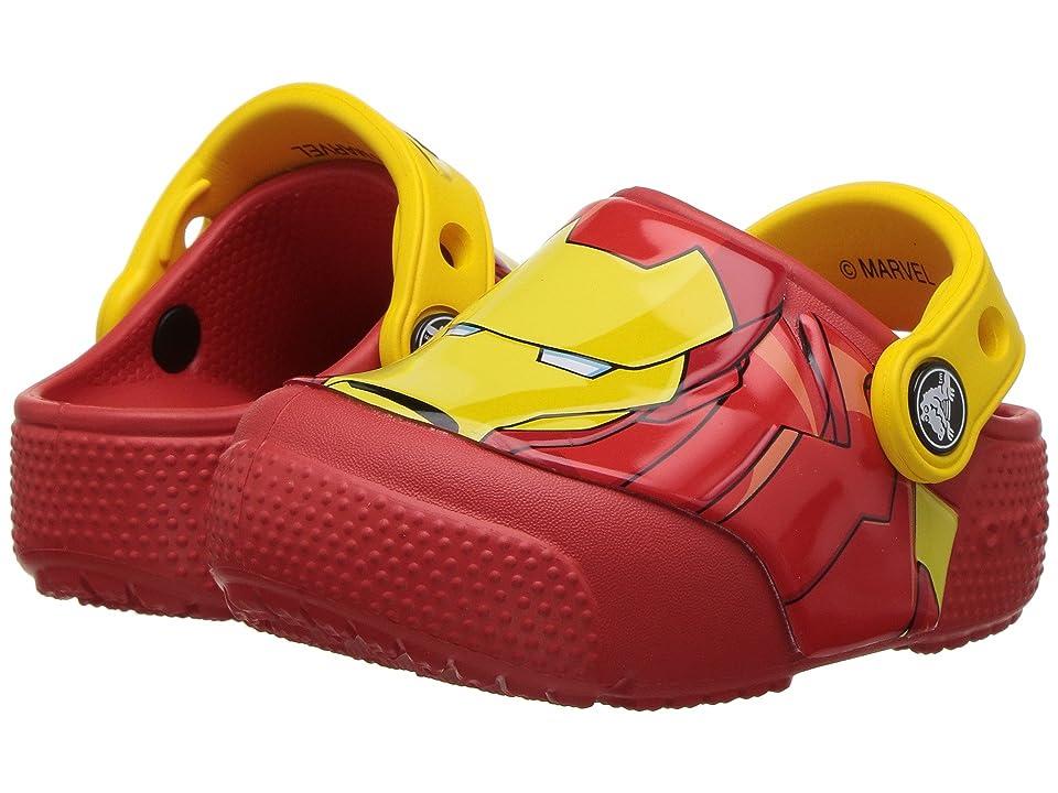 Crocs Kids FunLab Iron Man Lights Clog (Toddler/Little Kid) (Flame) Boys Shoes