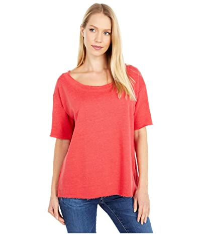 Chaser Linen French Terry 3/4 Sleeve Pullover (Cherry Bomb) Women