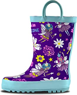 8e2d2dcb78c7 LONECONE Rain Boots with Easy-On Handles in Fun Patterns for Toddlers and  Kids