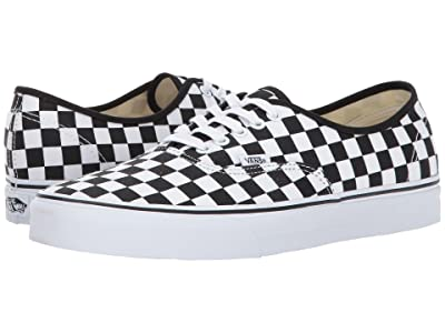 Vans Authentictm ((Checkerboard) Black/True White) Skate Shoes