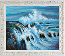 overstockArt Tides by La Pastiche Framed Hand Painted Oil on Canvas