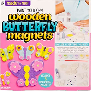 Made By Me Paint Your Own Wooden Butterfly Magnets by Horizon Group USA