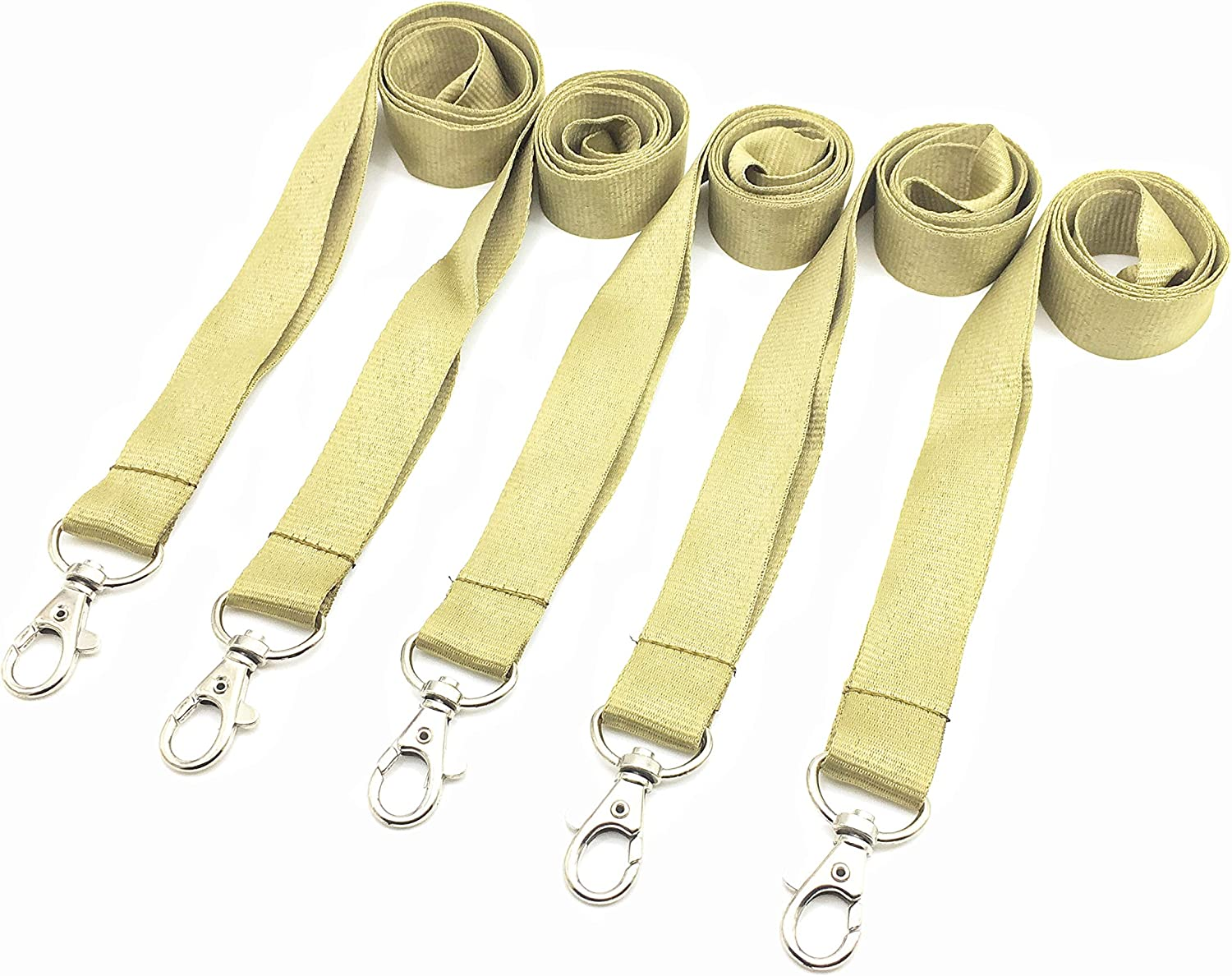 Neck Gold Max 2021 new 51% OFF Lanyards for ID Badge Str Flat Lanyard Holder Durable