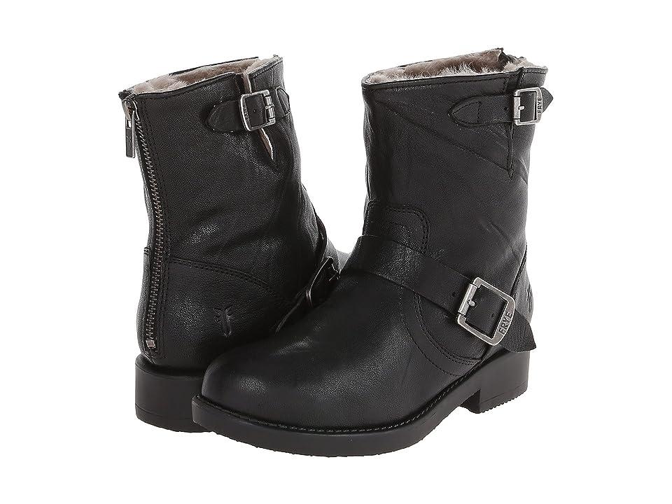 Frye Kids Valerie 6 Shearling (Little Kid/Big Kid) (Black) Girls Shoes