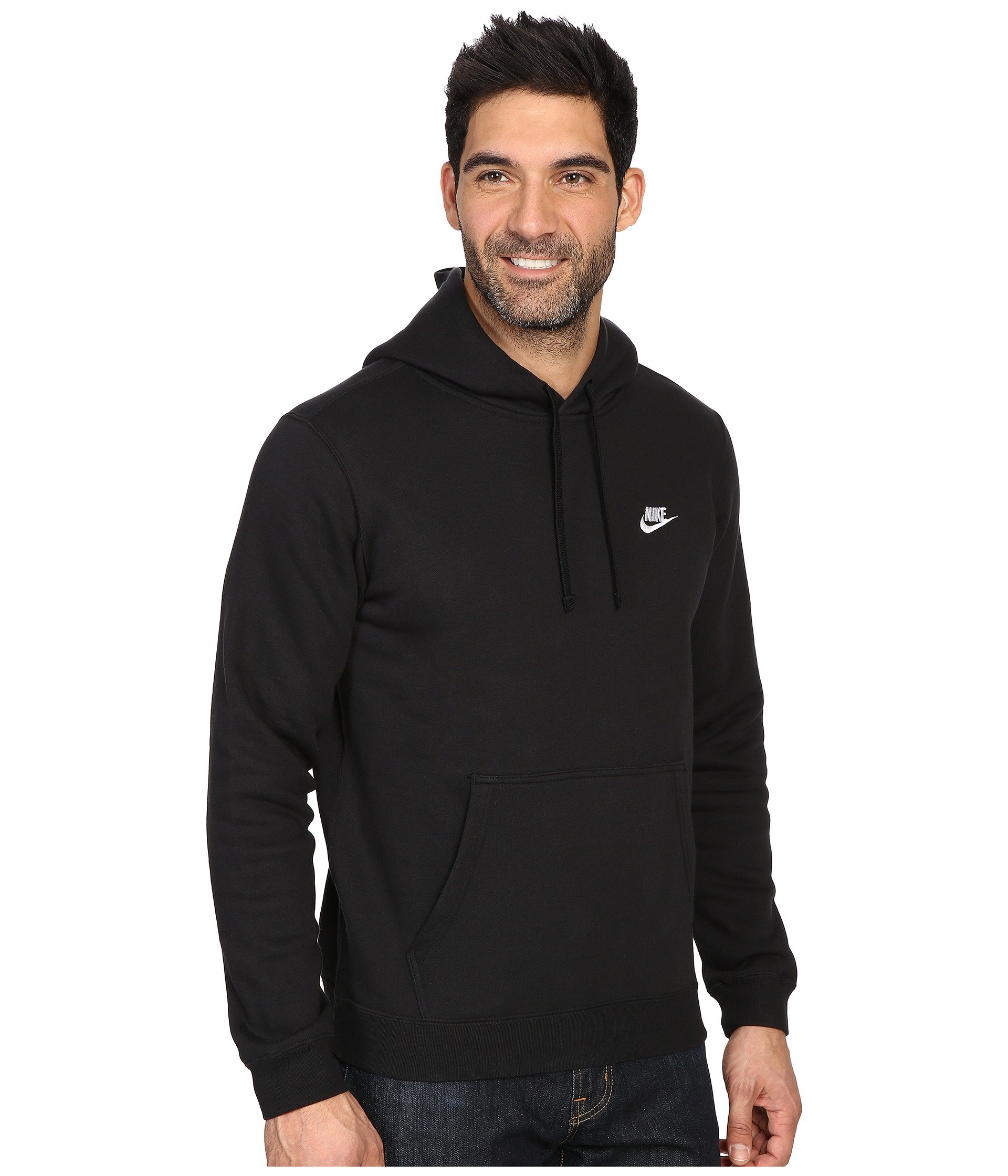 Nike Club Fleece Pullover Hoodie at Zappos.com