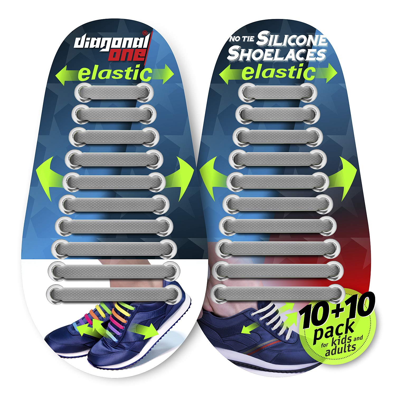Diagonal One No Tie Shoelaces for Kids