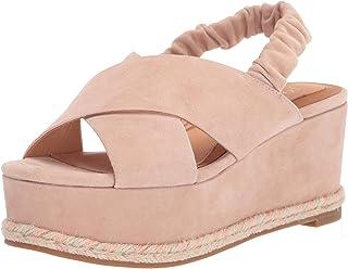 BN Ladies Striped Peep Toe Wedge Sandals Size 5