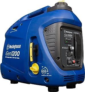 Westinghouse iGen1200 Super Quiet Portable Inverter Generator 1000 Rated 1200 Peak Watts,..