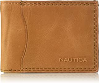 Nautica mens 31NU220018 Rfid Blocking Leather Passcase With Removeable Card Carrier Wallet