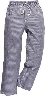 Portwest Pantalon de Cuisine Bromley, Taille Normale, Couleur: Bleu/Black échiquier, Taille: XXXL, C079CHRXXXL