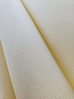 "59"" X 36"" Cream 14 Ct Counted Cotton Aida Cloth Cross Stitch Fabric"