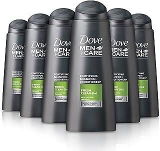 Dove Men+ Care, shampoo e balsamo Fresh Clean 2in1, 400ml (confezione da 6)