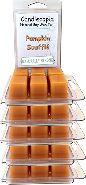 Candlecopia Pumpkin Souffl Strongly Scented Hand Poured Vegan Wax Melts 36 Scented Wax Cubes 19 2 Ounces In 6 X 6 Packs