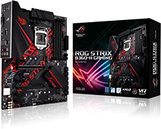 Asus 90MB0WM0-M0EAY0 Republic of Gamers Strix B360-H Gaming LGA 1151 ATX Motherboard, Black