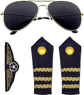 Widmann?Set pour déguisement de pilote, Taille unique (00085)