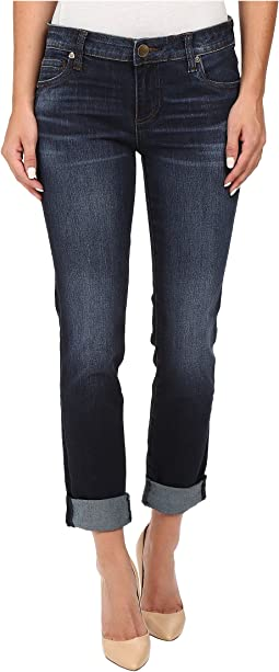 KUT from the Kloth - Catherine Five-Pocket Boyfriend Jeans in Adaptability w/ Euro Base Wash