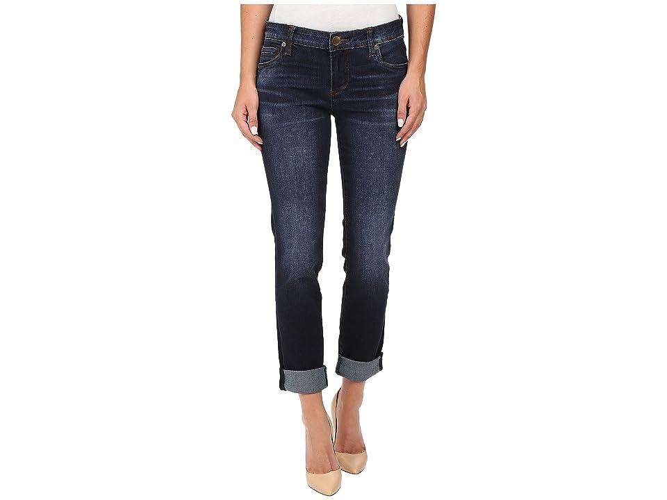 KUT from the Kloth Catherine Five-Pocket Boyfriend Jeans in Adaptability w/ Euro Base Wash (Adaptability/Euro Base Wash) Women