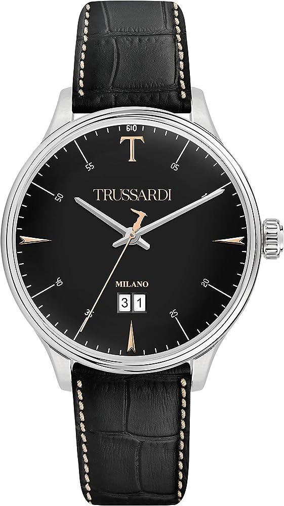Trussardi orologio analogico uomo con cinturino in pelle R2451130002