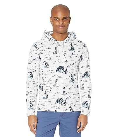 Polo Ralph Lauren Hooded T-Shirt (White Deco Swimmers Print) Men