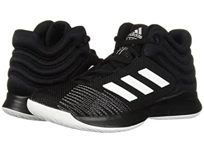 adidas Kids Pro Spark Basketball (Little Kid/Big Kid) (Black/White/Grey) Kid